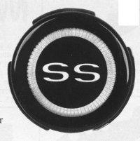 1967 SS Steering Wheel Emblem